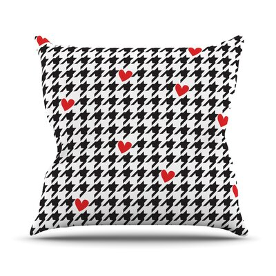 Spacey Houndstooth Heart by Empire Ruhl Throw Pillow Size: 18 H x 18 W x 1 D