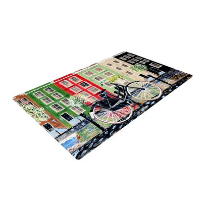 Christen Treat Bicycle Green/Red Area Rug Rug Size: 4 x 6