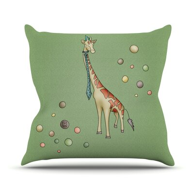 Giraffe by Carina Povarchik Throw Pillow Size: 26 H x 26 W x 1 D