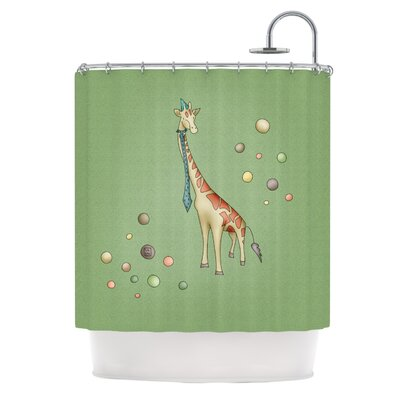 Carina Povarchik Giraffe Shower Curtain