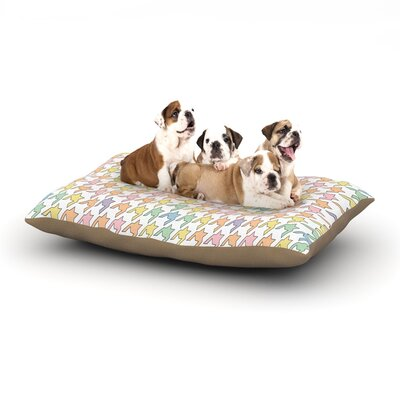 Empire Ruhl Houndstooth Dog Pillow with Fleece Cozy Top Size: Large (50 W x 40 D x 8 H), Color: Pastel