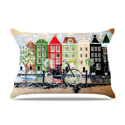 Bicycle by Christen Treat Featherweight Pillow Sham Size: King, Fabric: Woven Polyester