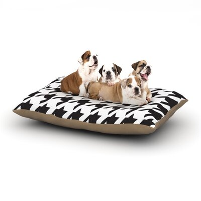 Empire Ruhl Spacey Houndstooth Dog Pillow with Fleece Cozy Top Size: Large (50 W x 40 D x 8 H)