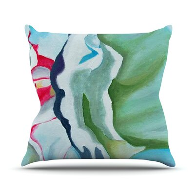 Peony Shadows by Cathy Rodgers Flower Throw Pillow Size: 18 H x 18 W x 1 D