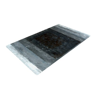 CarolLynn Tice Art Box Gray/Black Area Rug Rug Size: 2 x 3