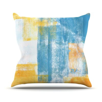 Color Combo by CarolLynn Tice Throw Pillow Size: 18 H x 18 W x 1 D