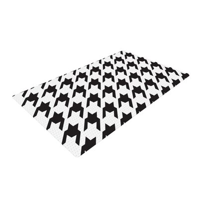 Empire Ruhl Spacey Houndstooth Black/White Area Rug Rug Size: 2 x 3