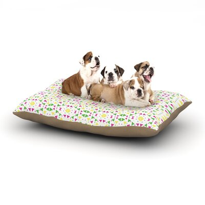 Empire Ruhl Neon Triangles Dog Pillow with Fleece Cozy Top Size: Large (50 W x 40 D x 8 H)