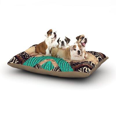 Alveron Teal Woven Paisley Dog Pillow with Fleece Cozy Top Size: Large (50 W x 40 D x 8 H)