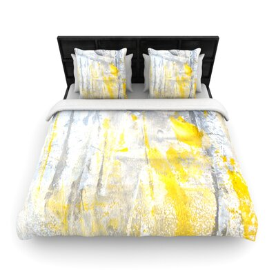 Abstraction Woven Comforter Duvet Cover Size: King