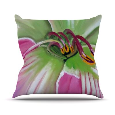 Cathy Rodgers Flower Throw Pillow Size: 18 H x 18 W x 1 D
