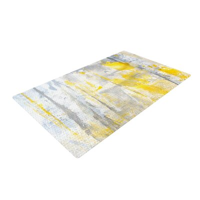 CarolLynn Tice Abstraction Gray/Yellow Area Rug Rug Size: 4 x 6