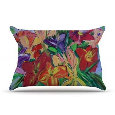 Cathy Rodgers Matisse Styled Lillies Rainbow Flower Pillow Case