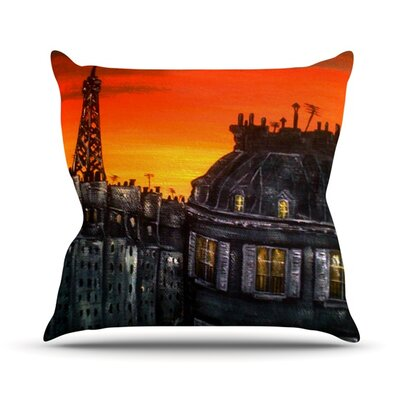 Paris Outdoor Throw Pillow Size: 16 H x 16 W x 3 D