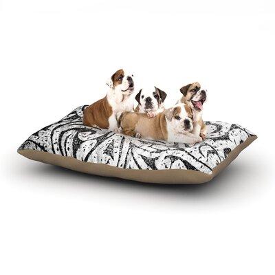 Alveron 'Monochrome Paisley' Dog Pillow with Fleece Cozy Top Size: Large (50