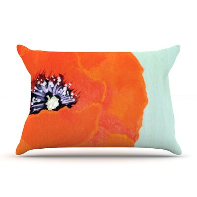 Vintage Poppy by Christen Treat Featherweight Pillow Sham Size: King, Fabric: Woven Polyester