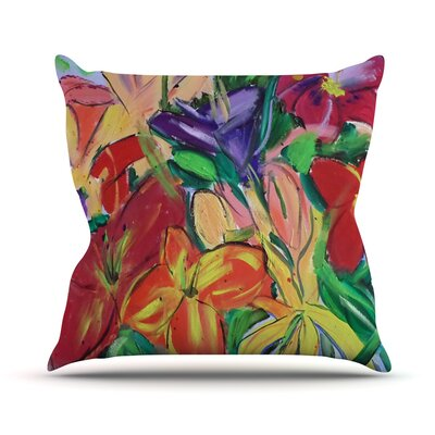 Matisse Styled Lillies by Cathy Rodgers Rainbow Flower Throw Pillow Size: 16 H x 16 W x 1 D