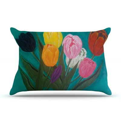 Tulips by Christen Treat Featherweight Pillow Sham Size: Queen, Fabric: Woven Polyester