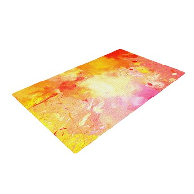 CarolLynn Tice Splash Orange/Yellow Area Rug Rug Size: 2 x 3