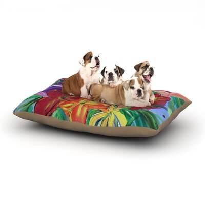 Cathy Rodgers Matisse Styled Lillies Flower Dog Pillow with Fleece Cozy Top Size: Large (50 W x 40 D x 8 H)