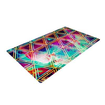 Alveron Neon Geo Galaxy Rainbow Blue/Pink Area Rug