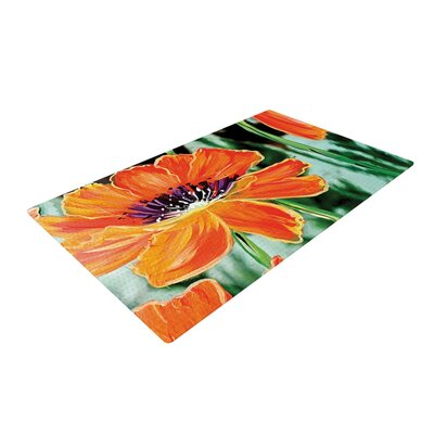 Christen Treat Through the Looking Glass Orange/Green Area Rug Rug Size: 4 x 6