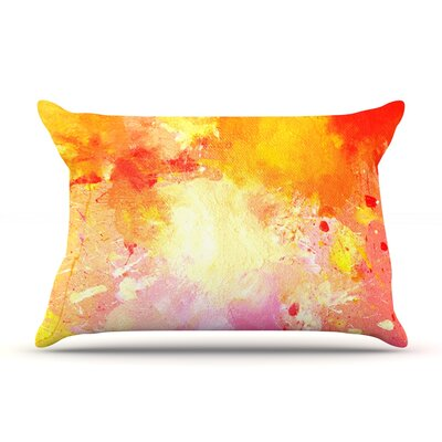 Splash by CarolLynn Tice Featherweight Pillow Sham Size: King, Fabric: Woven Polyester