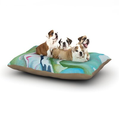 Cathy Rodgers Peony Shadows Flower Dog Pillow with Fleece Cozy Top Size: Small (40 W x 30 D x 8 H)