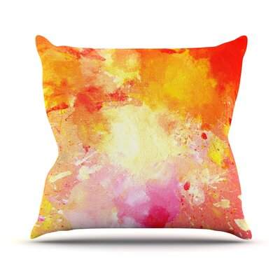 Splash by CarolLynn Tice Throw Pillow Size: 26 H x 26 W x 1 D