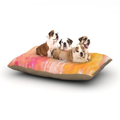 CarolLynn Tice Girls Night Out Dog Pillow with Fleece Cozy Top Size: Small (40 W x 30 D x 8 H)