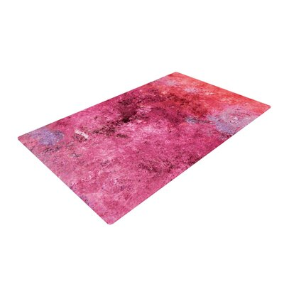 CarolLynn Tice Cotton Candy Red/Pink Area Rug Rug Size: 2 x 3