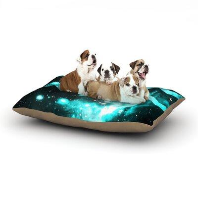Alveron 'Aqua Galaxy Chevron' Dog Pillow with Fleece Cozy Top Size: Large (50
