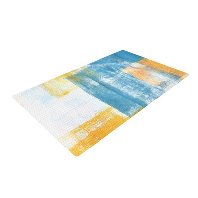 CarolLynn Tice Color Combo Blue/Yellow Area Rug Rug Size: 2 x 3