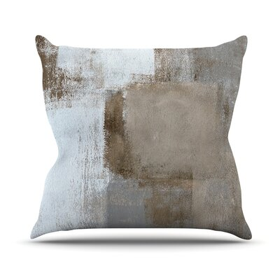 Calm and Neutral by CarolLynn Tice Throw Pillow Size: 26 H x 26 W x 1 D