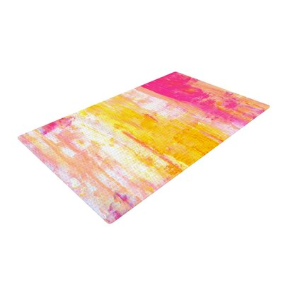 CarolLynn Tice Growing Taller Pink/Yellow Area Rug Rug Size: 2 x 3