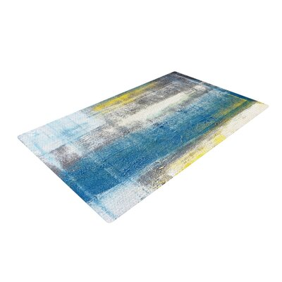 CarolLynn Tice Make a Statement White/Blue Area Rug Rug Size: 2 x 3