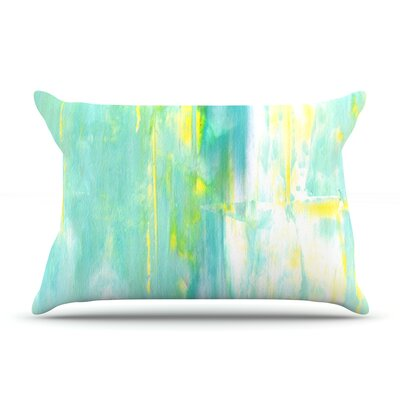 Spring Forward by CarolLynn Tice Featherweight Pillow Sham Size: King, Fabric: Woven Polyester