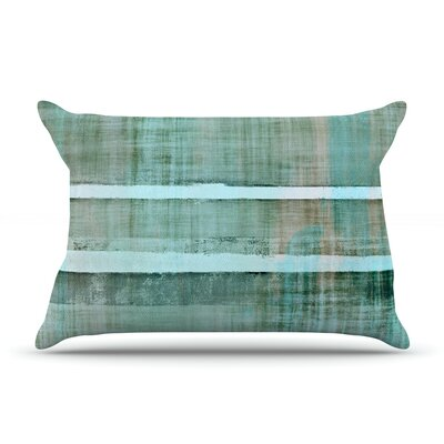 Line Up by CarolLynn Tice Featherweight Pillow Sham Size: King, Fabric: Woven Polyester
