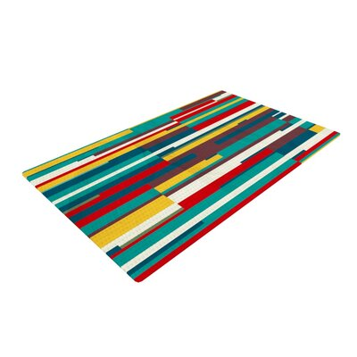 Danny Ivan Blowmind Blue/Yellow Area Rug Rug Size: 2 x 3
