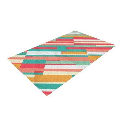Danny Ivan Droplines Blue/Pink Area Rug Rug Size: 2 x 3