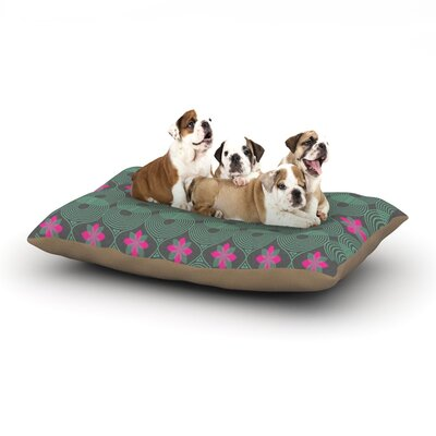 Deepti Munshaw Chevron and Dots Dog Pillow with Fleece Cozy Top Size: Large (50 W x 40 D x 8 H)