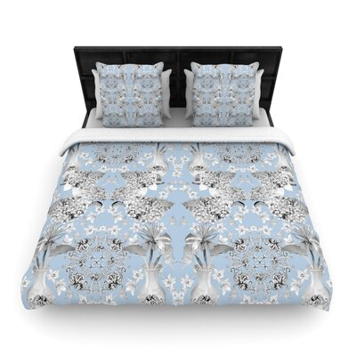 Versailles Blue Woven Comforter Duvet Cover Size: Full/Queen