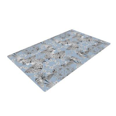 DLKG Design Versailles Blue/Gray Area Rug Rug Size: 4 x 6