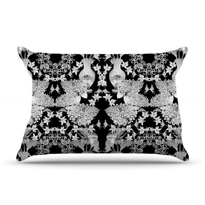 Versailles by DLKG Design Featherweight Pillow Sham Size: Queen, Color: Black, Fabric: Woven Polyester