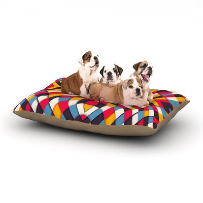 Danny Ivan Stained Glass Dog Pillow with Fleece Cozy Top Size: Large (50 W x 40 D x 8 H)