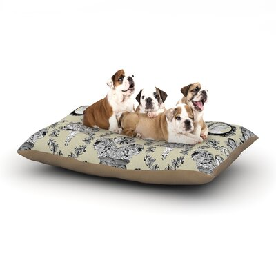 DLKG Design Imperial Palace Dog Pillow with Fleece Cozy Top Size: Large (50 W x 40 D x 8 H)