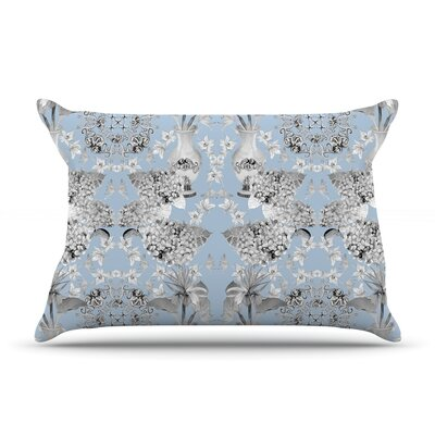 Versailles by DLKG Design Featherweight Pillow Sham Size: King, Color: Blue, Fabric: Woven Polyester