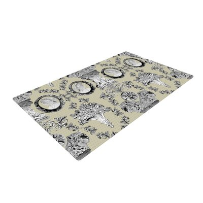 DLKG Design Imperial Palace Gray Area Rug Rug Size: 4 x 6