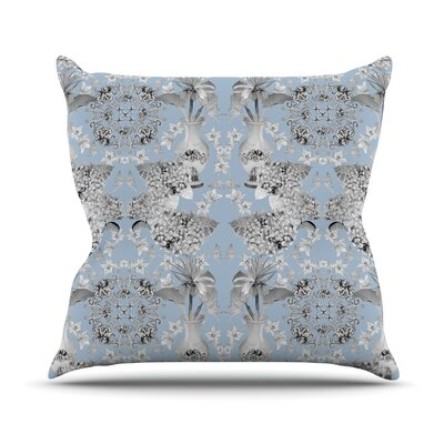 Versailles by DLKG Design Throw Pillow Size: 18 H x 18 W x 1 D, Color: Blue