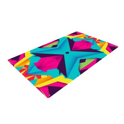Danny Ivan the Youth Blue/Pink Area Rug Rug Size: 4 x 6